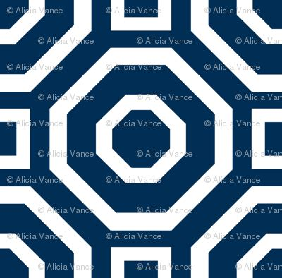 Geometry Classic Navy Wallpaper Alicia Vance Spoonflower | geometry classic navy wallpaper alicia vance spoonflower
