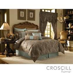 croscill laviano aqua king size 4 comforter set
