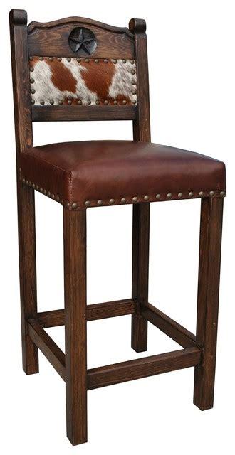 Cowhide Counter Stools - hacienda western stool cowhide southwestern bar