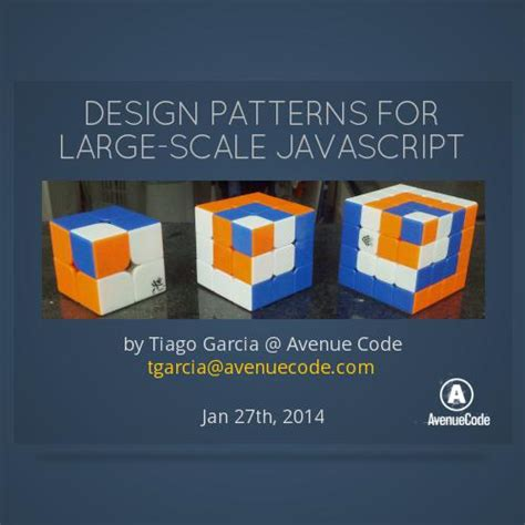 design pattern javascript pdf design patterns for large scale javascript by avenue code