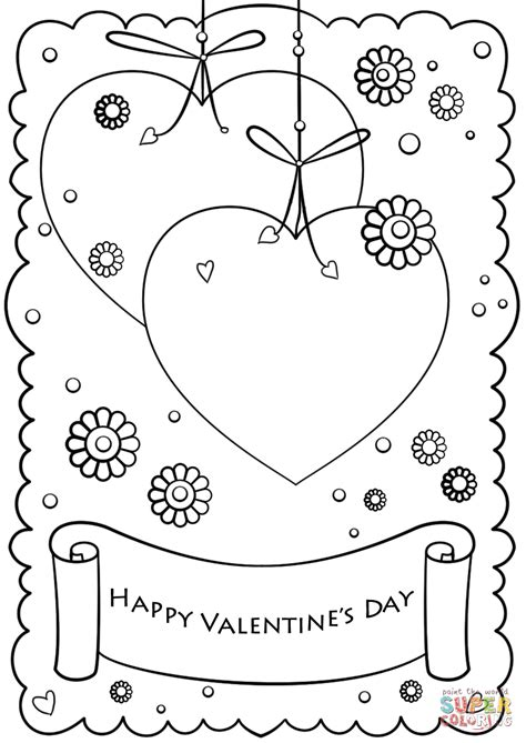 s day card template sheets happy s day coloring page free printable