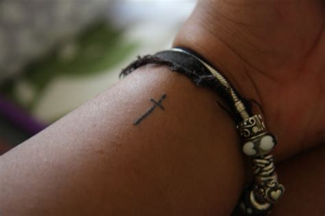 thin cross tattoo on wrist 404 page not found