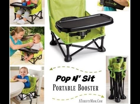 Summer Infant 13543 Pop N Sit Booster Pink 012914135433 pop n sit portable booster seat review baby shower gift idea