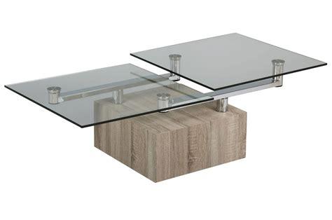 table bois et verre design table basse design verre et bois ezooq