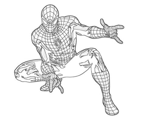 printable spiderman coloring page az coloring pages