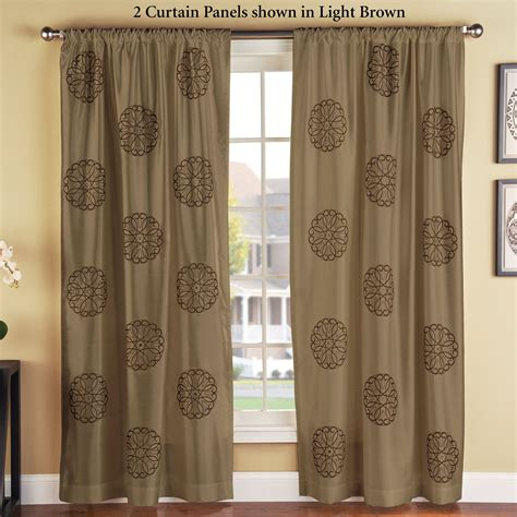 embroidered drapery panels brittany embroidered medallion curtain panels