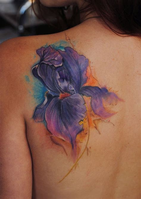 iris watercolor tattoo by dopeindulgence tattooimages biz