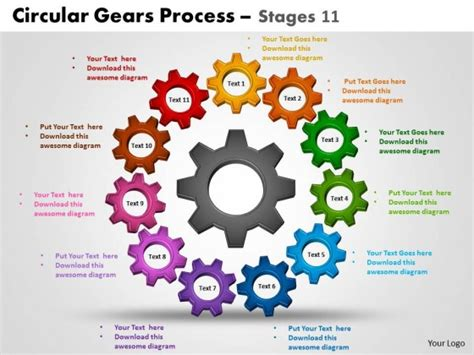 Powerpoint Template Business Circular Gears Process Ppt Slides Business Process Powerpoint Templates