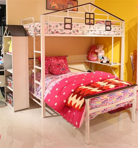 bunk bed set cassandra loft bunk bed set white from aed 1800 discountsales ae discount sales