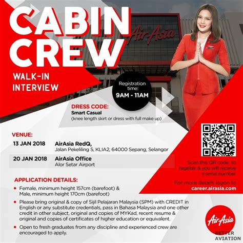 Airasia Walk In Interview | airasia cabin crew walk in interview january 2018