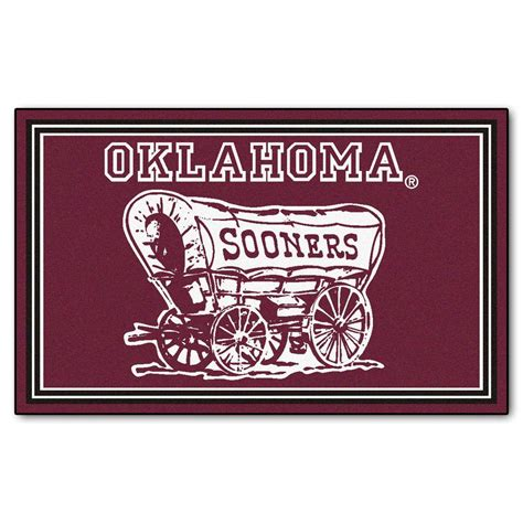 fanmats of oklahoma 4 ft x 6 ft area rug 6297