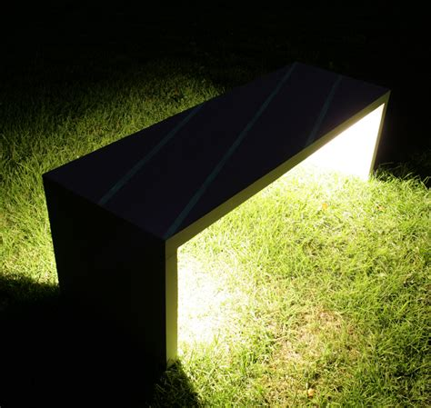 led bench led lighted concrete bench illuminated garden bench with led