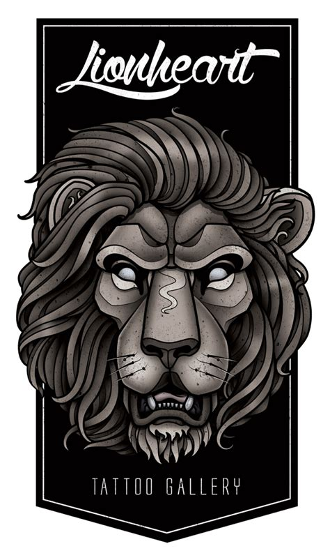 lionheart tattoo designs lionheart gallery graphic on behance