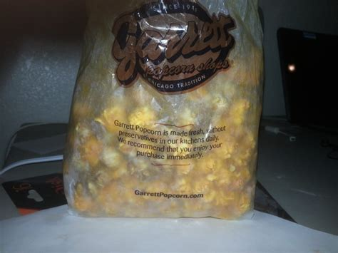 Garret Popcorn Size Large the large size bag of chicago mix yelp