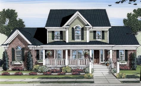 two story country house plans lovely two story home plan 39122st 1st floor master suite bonus room cad available corner