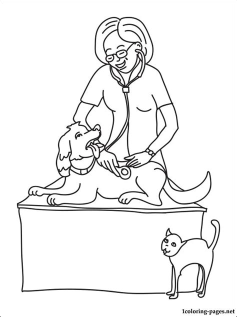 coloring pages veterinarian veterinary physician coloring page coloring pages