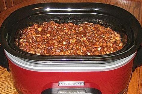 crock pot baked beans good eats pinterest