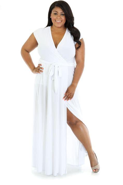 Sabina Maxy White summer goddess maxi dress for mob maxis