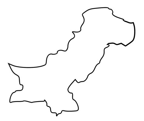 Afghanistan Pakistan Map Outline by Pakistan Map Outline Cliparts Co