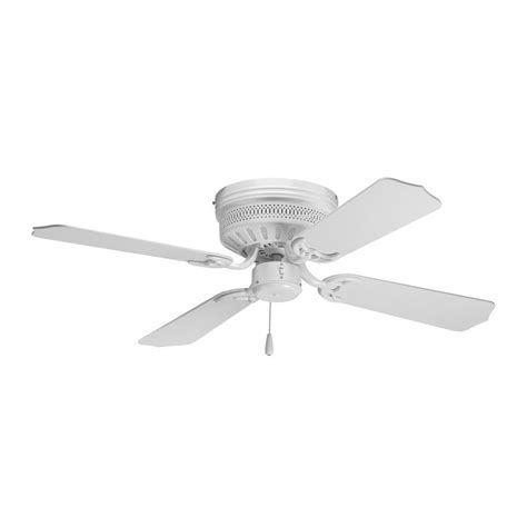 ceiling fan without light kit progress ceiling fan without light in white finish p252430