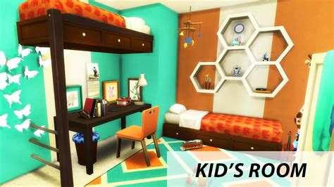 Double Decker Bed by Kid S Room The Sims 4 Room Build Bunk Bed Youtube