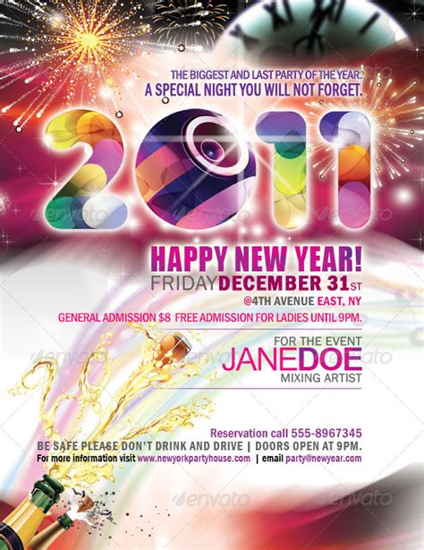 new year poster images best posters and flyers templates of new year design