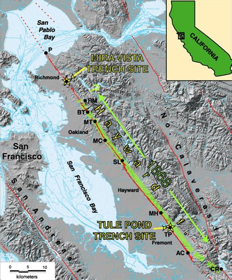 hayward fault map paleoseismology and the hayward fault
