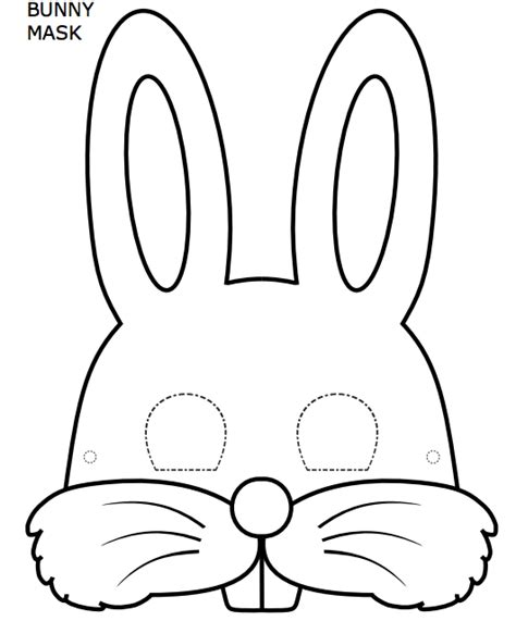 printable hare mask free coloring pages of easter bunny mask