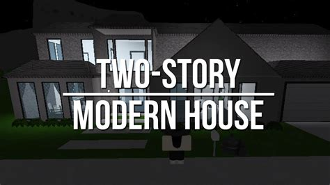Cozy Room Ideas by Roblox Welcome To Bloxburg Two Story Modern House Youtube