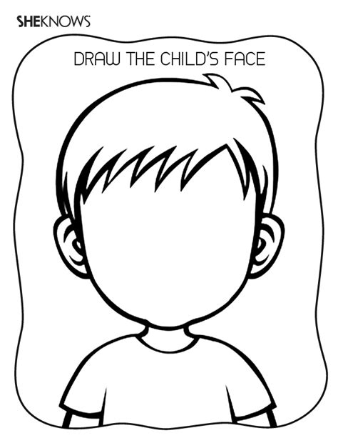 create the face page free printable coloring pages pre