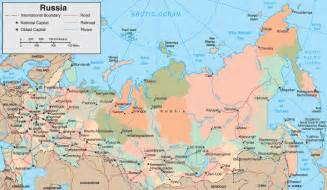 russia political map with cities maps of america