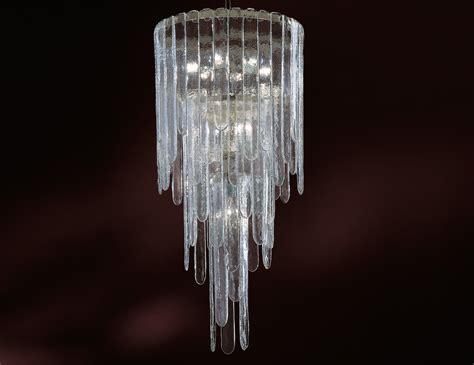 Glass Modern Chandelier Nella Vetrina Lada Ls 150 Modern Murano Chandelier In Clear