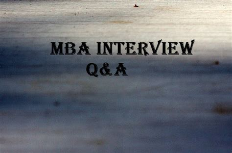 Tell Me About Yourself Mba Graduate by Important Mba Questions And Answers