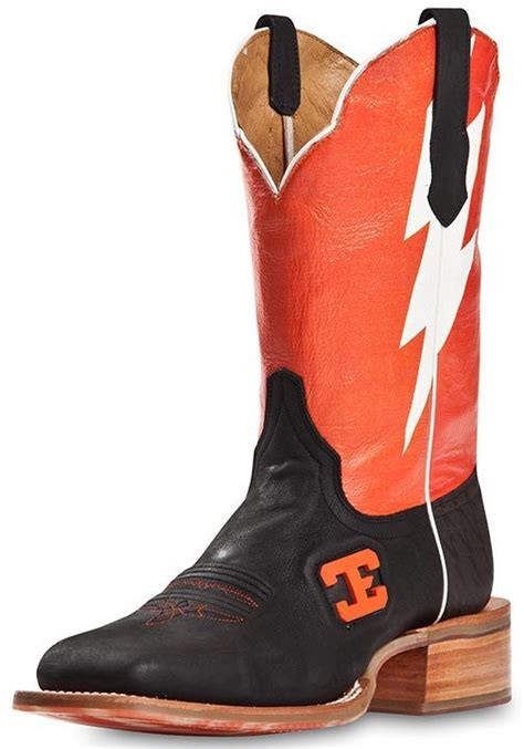 cinch mens boots cinch edge mens quot bolt quot square toe cowboy boots orange