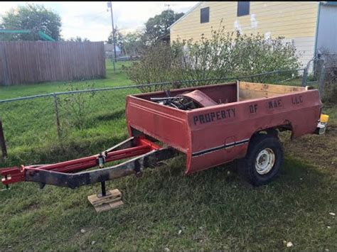 pickup bed trailer pickup bed trailer build from scrap leftovers youtube