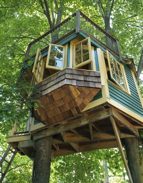 Pinterest Treehouse - awesome treehouse to overlook your garden tree houses pinterest gardens pull up and awesome
