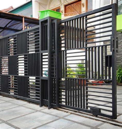 Pagar Rumah Minimalis 3 desain pagar rumah modern konsep desain pagar rumah minimalis mewah modern nyaman terbaru