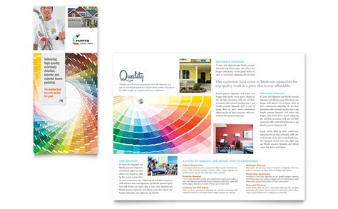 painting flyers templates free house painting contractor tri fold brochure template