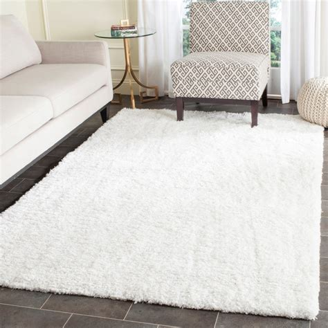 white accent rug white area rug rugstudio presents safavieh shag sg151