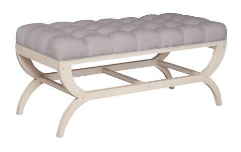 whitewash bench timeless classics manse upholstered bench manor white wash