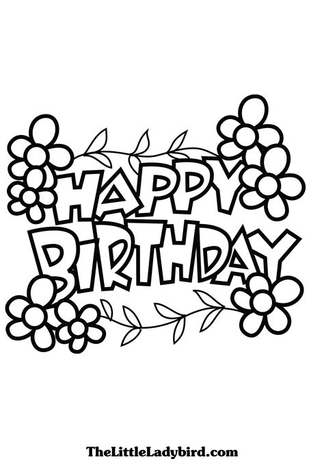 free coloring pages that say happy birthday happy birthday coloring pages clipart panda free