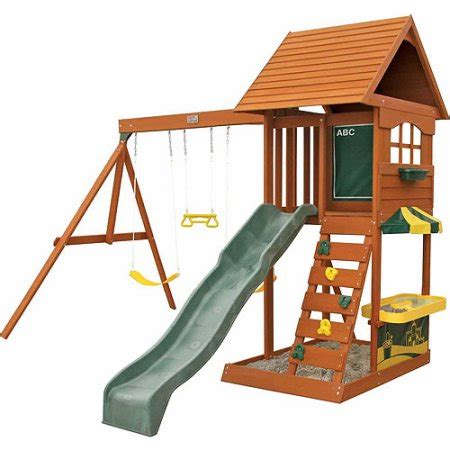 big backyard sandy cove big backyard sandy cove wooden swing set box 3 walmart com