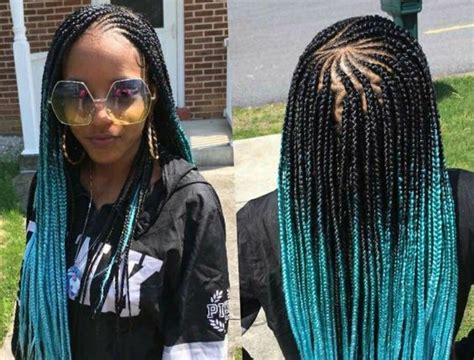 braids with color box braids with color in the back new hairstyles