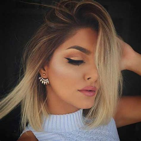 short hairstyles with dye 25 short hair color 2014 2015 blonde ombre short hair