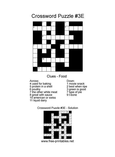 printable easy crosswords search results calendar 2015