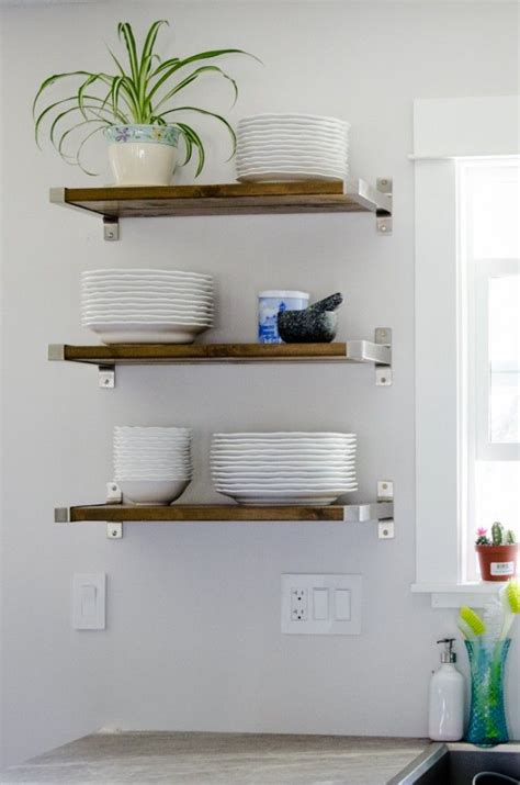 kitchen wall shelving 25 best ideas about kitchen shelves on pinterest open
