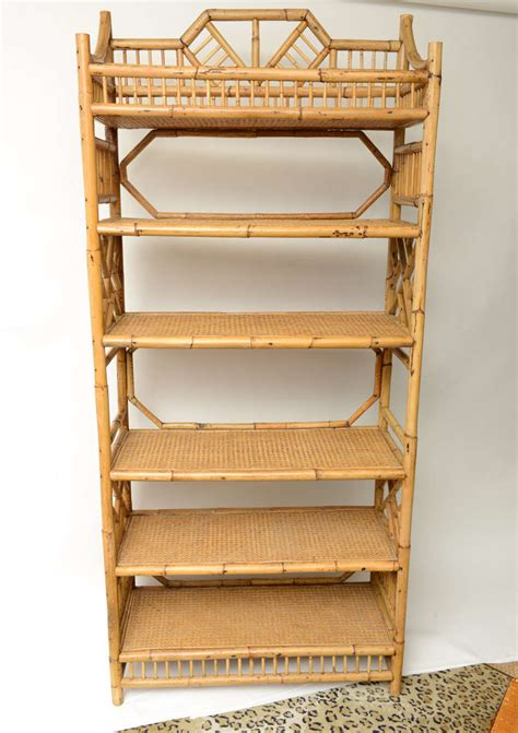 Etagere 2 Stöckig Holz by Pair Of Large Six Tier Vintage Bamboo And Caned Etageres
