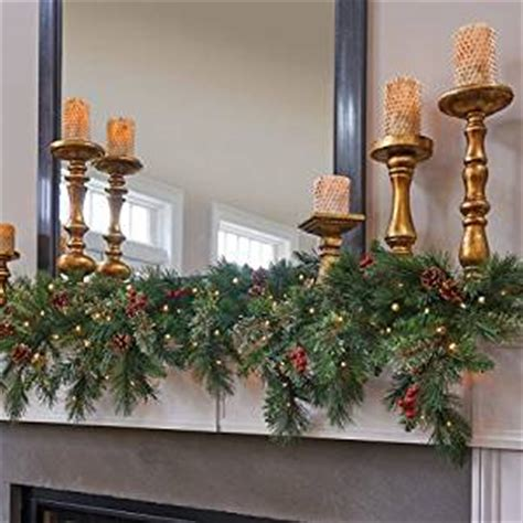 6 ft led lighted battery operated cascading garland decor home