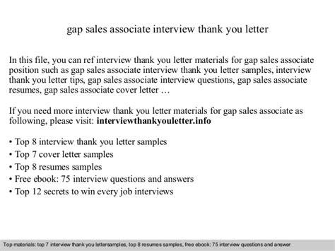 Thank You Letter To Associate Gap Sales Associate