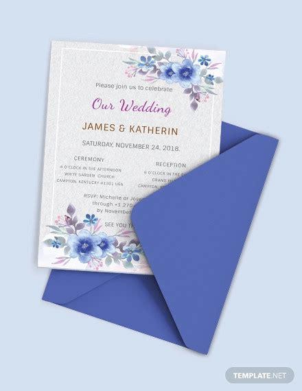 simple wedding invitation templates psd ai word